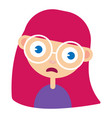 teen girl face upset confused facial expression vector image