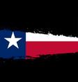 texas flag splash vector image vector image