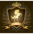 The unicorn shield vector image vector image