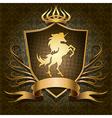 the unicorn shield vector image vector image