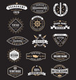 vintage logos and insignas vector image vector image