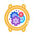 watch mechanism gears icon outline vector image vector image