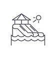 waterslides line icon concept waterslides vector image vector image