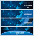 web banner flyer and cover with blue triangle vector image