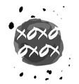 xoxo drops vector image vector image