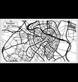 zaragoza spain city map in retro style outline map vector image vector image