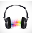 musical headphones vector image