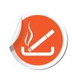 smoking ORANGE LABEL vector image