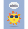 Hello Summer with summer sun vector image