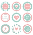 Tags for wedding vector image