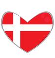 Isolated Danish flag vector image