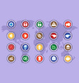 a set of icons on colored buttons part four vector image vector image
