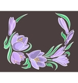 Abstract crocuses with grey background vector image vector image