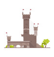 ancient castle fortress citadel or stronghold vector image vector image