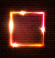 bright glowing square background shape vector image vector image