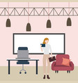business people workspace vector image