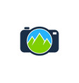 camera mountain logo icon design vector image