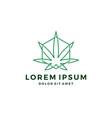 cannabis hemp marijuana leaf geometric logo vector image vector image