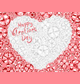 card of valentines heart vector image vector image