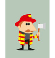 Cartoon fireman vector image