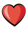 cartoon heart love romantic adorable cute image vector image