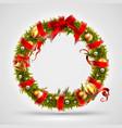 christmas font letter o of christmas tree vector image vector image