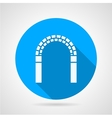 Circle icon for archway vector image vector image