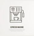 coffee espresso machine flat line icon vector image