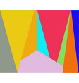 color background from triangles and rectangles vector image