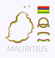 Colors of Mauritius vector image