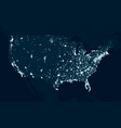 communications map of the united states vector image