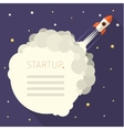 Concept of start up rocket in sky vector image vector image