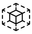 cube space icon outline style vector image