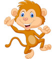 cute monkey dancing isolated on white background vector image vector image