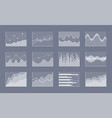 diagram collection on grey vector image vector image