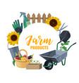 farming and gardening tools garden shovel rakes vector image vector image