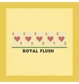 flat shading style icon royal flush vector image vector image