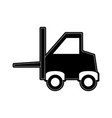 forklift industrial icon image vector image