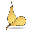Freehand drawing pear icon vector image vector image