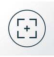 full screen icon line symbol premium quality vector image vector image