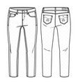 girls pants vector image vector image