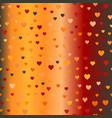 glowing chaotic heart pattern seamless background vector image vector image