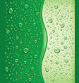 green water droplets background vector image vector image