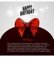 Happy birthday background with red bow design vector image