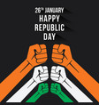 happy republic day banner vector image