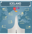 Iceland infographics statistical data sights vector image vector image
