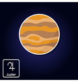 icons with Jupiter and astrology symbol of planet vector image vector image