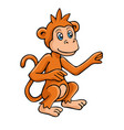 in cartoon style monkey vector image vector image