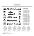 logistics export icon info graphic vector image vector image