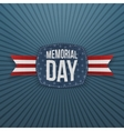 Memorial Day patriotic Emblem and Ribbon vector image